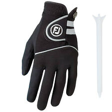 FOOTJOY MENS RAINGRIP LEFT HAND GOLF GLOVE - NEW BLACK RIGHT HANDED LEATHER 2016