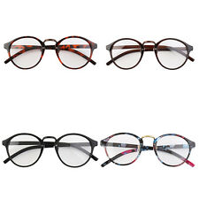 Retro Geek Vintage Nerd Large Frame Fashion Round Clear Lens Glasses CZ