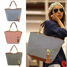 Womens Canvas plaid Handbags Girls Tote Satchel Beach Shoulder shopping Bags CZ
