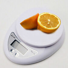 Digital Kitchen Scale Compact Diet Food 5KG 11LBS x 1g + Bowl Electronic Weight^