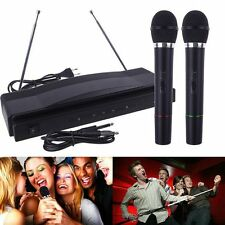 Professional Wireless Microphone System Dual Handheld 2 x Mic Receiver A^^