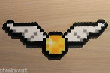Golden Snitch Pixel Art Bead Sprite from the Harry Potter Series