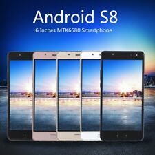 6 Inches MTK6580 Smartphone Cell Phone For Android S8 Dual Sim Dual Stand DB1