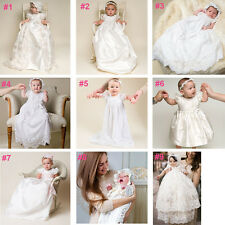 0-2 years Baby Flower Girls Christening Gown Party Baptism Lace Outfits Dress