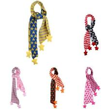 Knitting Striped Star Design Baby Kids Scarf Scarves Shawl Wraps