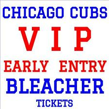 CHICAGO CUBS vs LOS ANGELES DODGERS · AFTERNOON 4/13 · VIP BLEACHER TICKETS