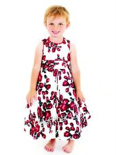 Girls Gorgeous Vintage Rose Occasion Dress Wedding Christening (6/12mth- 4-5yrs)