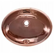 Whitehaus WH608CBL Decohaus Oval Undermount Basin Smooth Texture Polished Copper
