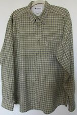 Columbia Long Sleeve 100% Heavy Cotton Shirt-XXL-Button Front-Warm and Soft