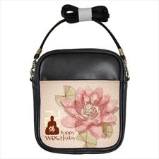 Lotus Wesak Day Buddhism Girls Leather Cross body Sling Bag