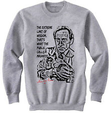 JEAN COCTEAU - NEW COTTON GREY SWEATSHIRT- ALL SIZES IN STOCK