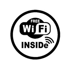 "8"" In WIFI Free Spot Vinyl Decal Sticker Coffee Shop Sign Restaurant Store  [M3]"