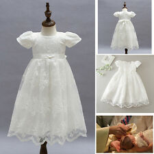 NEW Baby Girl Baptism Christening Gown Birthday Party Formal Princess Lace Dress
