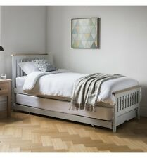 Frank Hudson Space Saving Single, Superking Guest, Spare Bed (Oak, White, Grey)