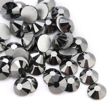 Wholesale 1440pcs Crystal Jet Hematite Rhinestones FlatBack Nail Art Accessories