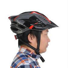 Cycling Bicycle Adult Mens Bike Helmet Red carbon color With Visor Mountain LWY
