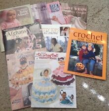 Your choice of knit crochet pattern books afghan baby clothes tops sweaters doll