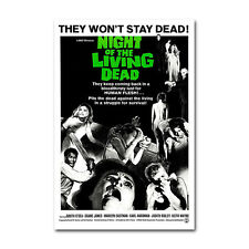 Night of The Living Dead Horror Movie Art Silk Canvas Poster 12x18 24x36 inch
