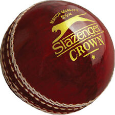 Slazenger Crown Cricket Sports 4 Piece Leather Construction Training Match Ball