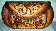 AUTHENTIC MEXICAN HANDCRAFT PURSE TOOLED LEATHER Style # 104