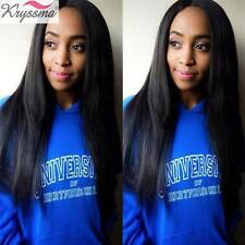 100 Human Hair Full Lace Wigs Silky Straight Brazilian Remy Lace Front Wig 12-22