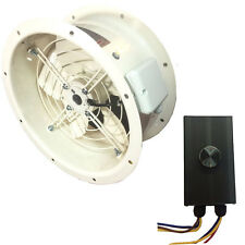 Canopy  Duct  Cased Axial Fan Commercial Extractor + Fan Speed Controller