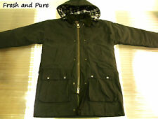 New Wax Cotton Olive Green Padded Jacket with Free Can of Wax Dressing