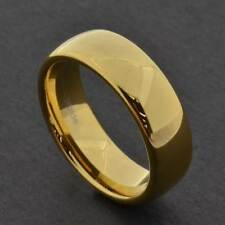 7mm Gold Tungsten Men's Wedding Band Ring sz7-13