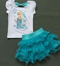 Dresses Disney Kids Girls dress Frozen Elsa&Anna costume Princess party dresses*