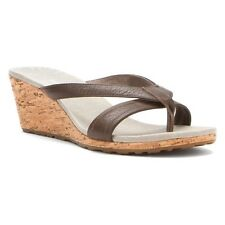 NIB Patagonia Solimar Cork Wedge Slide Sandal Sable Brown Leather Women 6 & 9