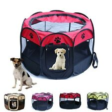 Pet Dog Cat Playpen Tent Portable Exercise Fence Kennel Cage Crate Outdoor Bag