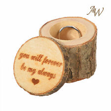 AWEI Rustic Wedding Ring Bearer Box Party Ceremony Retro Ring Pillow Alternative