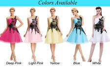 Ladies Lovely One Shoulder Lace Short Mini Dress Cocktail Evening Prom Party❤ ❤