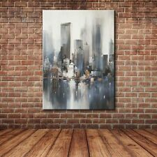 Unframed Modern Abstract Building Knife Paint Oil Painting Canvas Art Home Decor