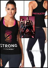 ZUMBA 2pc.Set! STRONG INSTRUCTOR Racerback Tank+PERFECT LONG LEGGINGS-EliteZWear