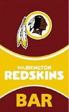 Washington Redskins BAR Banner Flag MANY SIZES 2 grommets NFL wall decor sign