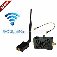 Professional 2.4GHZ 4W Wifi Wireless Broadband Amplifier Router Signal AU LOT