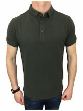 Mens Superdry Classic City Polo Shirt in Olive Khaki Size Medium