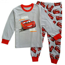 Lightning McQueen Cartoon Boys Girls Nightwear Long Sleeve Kids Pj's Pyjamas Set