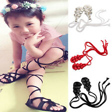 Cute Baby Girls Infant Toddler PU Leather Gladiator Strappy Dress Sandals Shoes