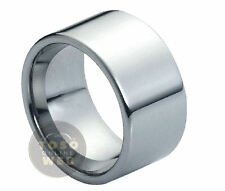 Men's 12mm Pipe Cut High Polish Wedding Band Tungsten Ring TS0870