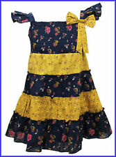 Ex Next Girls Floral Gypsy Dress Size 1- 2 2 - 3 3 -4 Years NEW