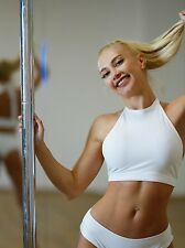 Anna White Pole Dance Top,pole dance top,white pole dance top,white top, top
