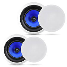 """PYLE 6 1/2"""", 8"""" or ANGLED HOME THEATER FLUSH MOUNT IN-CEILING IN WALL SPEAKERS"""