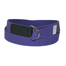 New CTM Cotton Web 1 1/4 Inch Belt with Double D Ring Buckle