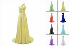 Chiffon Long Prom Evening Dresses Bridesmaid Ball Wedding Party Cocktail Gowns