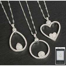 Equilibrium Double Layer Diamante Necklace Gift Boxed