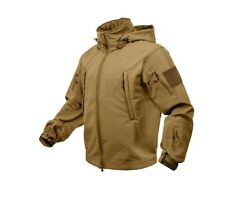NEW Special Ops Tactical Soft Shell Jacket - Coyote