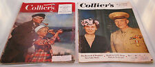 LOT OF 2 COLLIERS MAGAZINES OCT 16,1948 AND JULY 28 1951
