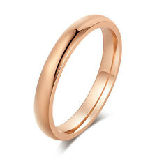 Womens Smooth Promise Rings size 7 8 9 10 11 Rose Gold Plated Fashion Ring lots